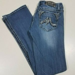 MISS ME Boot Jeans JD1065B Distressed Nice Sz 29